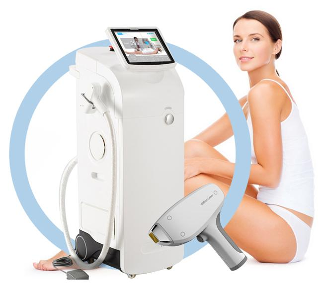 Saprano Permanent Hair Removal Equipment  All Skin Colors Suitable No Harm