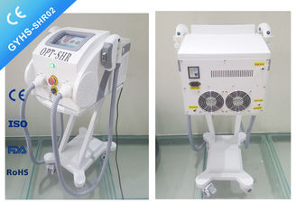 China Double Handpiece IPL SHR Hair Removal Machine ,  Fast Light Shots IPL Treatment Machine supplier