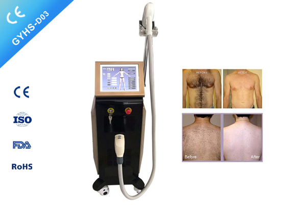 Three Wavelength Laser Beauty Machine , Diode Painless Laser Hair Removal Device