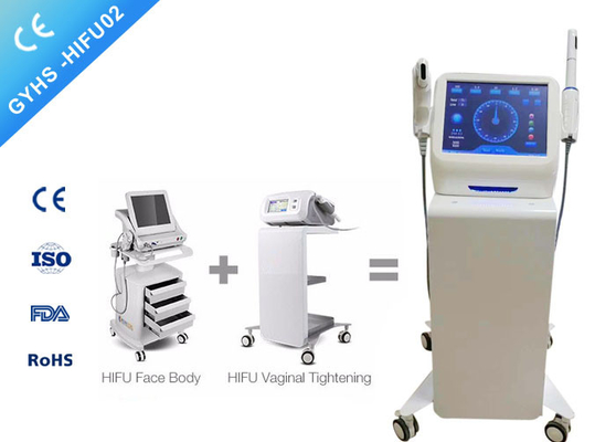 China Noninvasive Ultrasound HIFU Beauty Machines With Five Cartridges For Clinics 4.5mm Heads factory