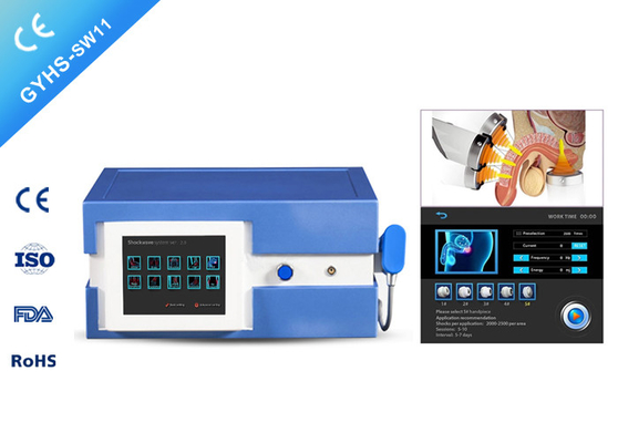 China ED treatment pain reduction Extracorporeal shockwave therapy machine with 5 probes distributor